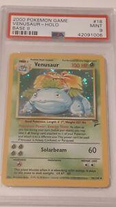 Pokemon Base set 2 Venusaur Holo #18/130 Psa graded 9 Mint condition