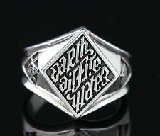 Silver, Black Oxidized, 8-14 Us Illuminati ring, Men's Ring, Sterling
