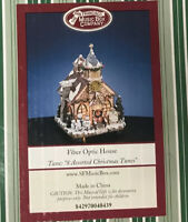 The San Francisco Music Box Company Fiber Optic House 8 Assorted Christmas Tunes