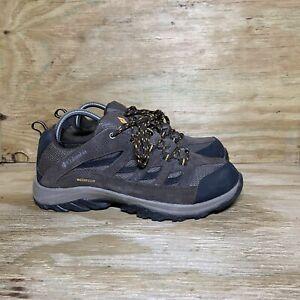 Columbia Crestwood Waterproof Hiking Shoes Mens Size 9.5 Brown BM5372-255 *