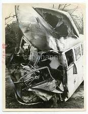 Accident Wreck Destroyed Volkswagen Van VW Microbus Vtg 1977 Photo Norfolk VA