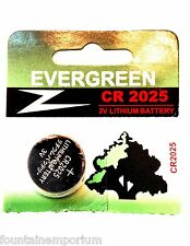 ROCKET FAST FREE SHIPPING! EVERGREEN CR2025 3V Lithium Battery