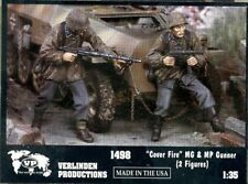 Verlinden Productions 1:35 Cover Fire MG & MP Gunner - 2 Resin Figures Kit #1498