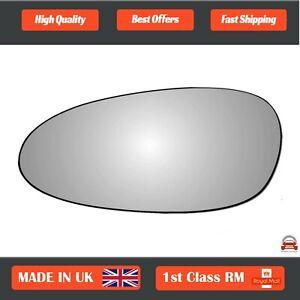 Left Passenger Convex Wing Mirror Glass for Porsche Boxster 2004-2009 348LS