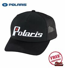 POLARIS RETRO HAT CAP BLACK W/ WHITE BASEBALL RZR RMK SPORTSMAN ACE TRUCKER NEW