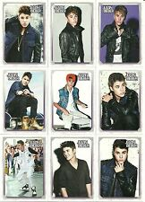 2012 Panini Justin Bieber Trading Cards - Complete 50 Card Set