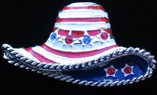 BEST USA JULY 4TH INDEPENDENCE FLAG BEACH SUMMER HAT PIN BROOCH PENDANT JEWELRY