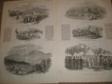 Insurrection in Ireland Ballingarry Tipperary and Kilkenny Castle 1848 prints