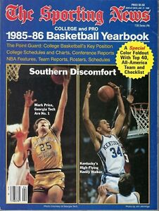 The Sporting News 1985-86 Basketball Yearbook 1986 Mark Price / Sky Walker Cove
