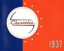 CHEVROLET 1937 Sales Brochure 37 Chevy