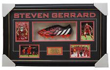 Steven Gerrard Signed Adidas Boot Box Framed Liverpool 2005 UEFA Champions + COA