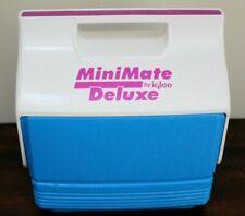New listing Mini Mate Deluxe Cooler by Igloo Retro Teal Aqua Purple MiniMate Push Button