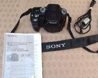 SONY A100 A 100 Digital DSLR-Camera AF- corps seul dragonne non fonctionnel