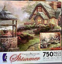 Thomas Kinkade's Make a Wish Cottage Shimmer 750 Piece Puzzle