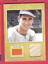 TED WILLIAMS GAME USED JERSEY CARD 2012 GOLDEN AGE MUSEUM BOSTON RED SOX HOF