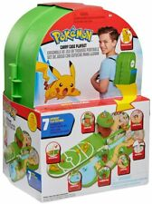 Pokemon Carry Case Backpack Fold Out Playset & Pikachu Action Figure Toy Set
