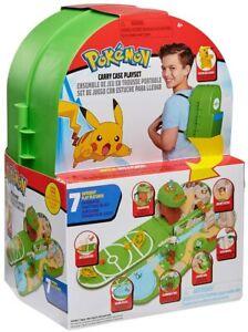 Pokemon Transport Étui Sac à Dos Pli Sortie Set de Jeux & Pikachu Figurine Jouet