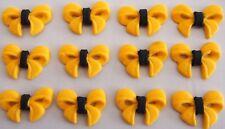 EMMA Yellow Bow Ribbon THE WIGGLES Edible Cupcake toppers GIRLS YELLOW WIGGLE