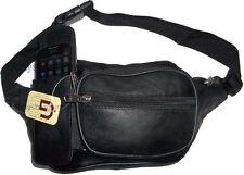 Leather waist pouch large waist bag leather bag Fanny pack sports bag 6 pockkets