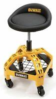 DEWALT *Adjustable Shop Stool W/Casters* Seat Chair Workbench Workshop Tool Shed