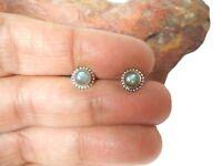 Boucles d'oreilles en argent sterling 925 avec pierres précieuses Labradorite