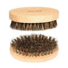 Men Boar Hair Bristle Beard Mustache Brush Military Hard Round Wood Comb PRO