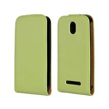 Genuine Leather Magnetic Flip Case Cover For HTC Desire 500
