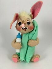 Vintage Annalee Doll Small Baby Bunny Rabbit With Blanket & Bottle Easter '94