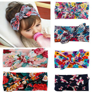Baby Toddler Kids Funny Rabbit Bow Knot Turban Headband Hair Band Headwrap Soft