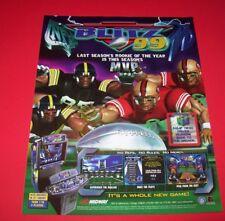 Midway BLITZ 99 Original NOS Video Arcade Game Promo Flyer Football Sports Theme