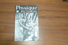 PHYSIQUE PICTORIAL VOL 10 #1 50s VINTAGE MAGAZINE BOYS ART BEEFCAKE GAY NUDE