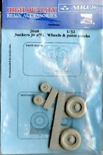 Aires 1:32 Junkers Ju 87G Stuka Wheel and Spray Paint Mask for Academy Kit #2048