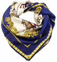Sciarpa Foulard Versace 100% seta con stampa Western Cowboy MADE IN ITALY donna