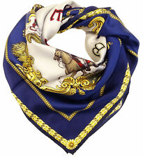 Sciarpa Foulard Versace 100% seta con stampa Western Cowboy MADE IN ITALY donna