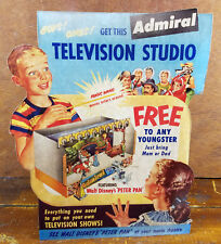 Admiral Television Studio Walt Disney Peter Pan Child's Stage Play Counter Sign