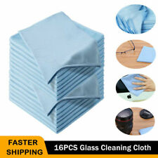 16PCS Microfiber Glass Cleaning Cloth Car Windshield Washing Dish Drying Towel