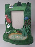 Golf Photo Frame Vintage 4x6 Resin Painted Golf Clubs Tee Green Ball Bag