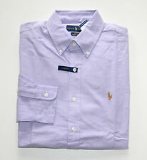 NWT Men's Ralph Lauren Casual Long-Sleeve Oxford Shirt, Purple, M, Medium