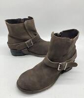 AllSaints Spitalfields Jacks Place Women's Brown Leather Ankle Boots Sz 40 US9.5