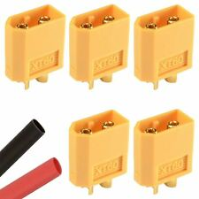 5 x Male RC XT60 Battery Connector + Heat Shrink Plane Helicopter Car
