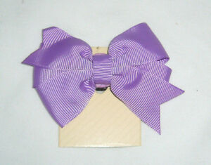 "DOG BOW - FITS COLLAR WIDTH 3/8""- 5/8 "" W - SOLID LIGHT PURPLE - (NEW)"