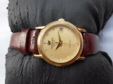 USED RARE VTG GOLD PLATED RAYMOND WEIL GENEVE DATE LADIES AUTOMATIC WRISTWATCH