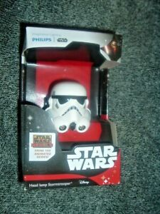 STAR WARS HEAD LAMP BY Philips, STORMTROOPER FROM DISNEY BLACK/WHITE (NEW)