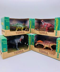 DINOSAUR LOT OF 4 TERRA DINOSAURS/PLAY FIGURES-ALL BRAND NEW IN ORIG BOXES