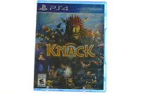 PLAYSTATION 4 PS4 GAME KNACK BRAND NEW & FACTORY SEALED