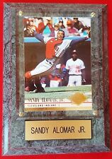 Sandy Alomar Jr. 1994 Fleer Ultra Card #40 Cleveland Indians Wood Plaque MINT
