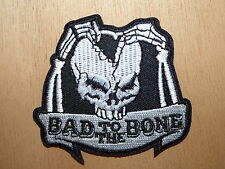 ECUSSON PATCH THERMOCOLLANT BAD TO THE BONE biker rockabilly custom chopper moto