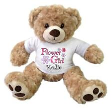 "Flower Girl Teddy Bear - Personalized 13"" Honey Vera Bear"
