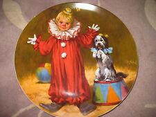 "Reco Tommy The Clown By John Mc Clelland Bradex Plate, 9 1/4"" Diameter"