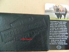 Harley-Davidson Geldbörse, Portemonnaie Wallet TRI-FOLD US1836L black Bison -USA